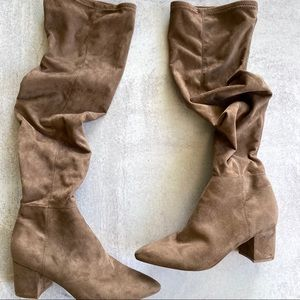 STEVE MADDEN Brinkley Over the Knee Stretch Boots